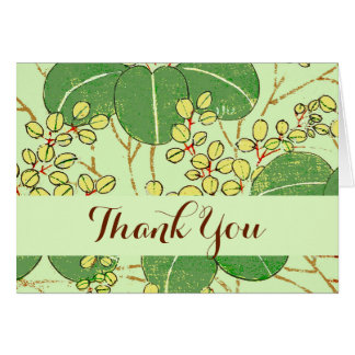 Thank You Custom Template Asian Floral Art Print