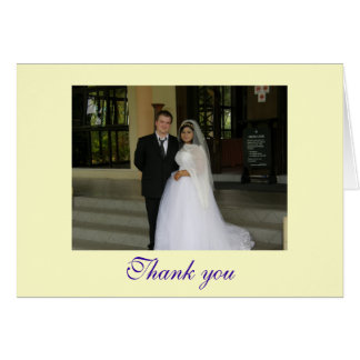 Thank you - customizable card