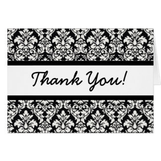 Thank You (customize font & color) Card