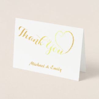 Thank you cute heart card personalized