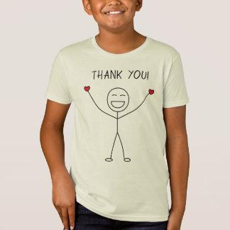 THANK YOU Cute Stick Figure Love Gratitude T-Shirt