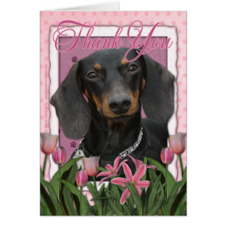 Thank You - Dachshund - Winston Card