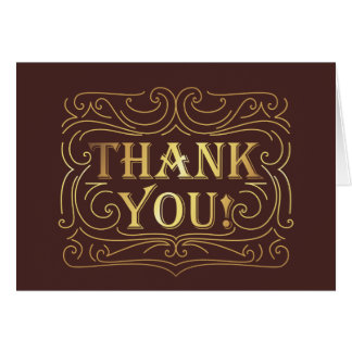 Thank you design card