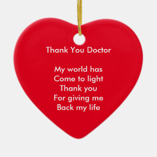 Thank you doctor ceramic ornament