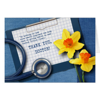 Thank You, Doctor. Doctors' Day Greeting Cards