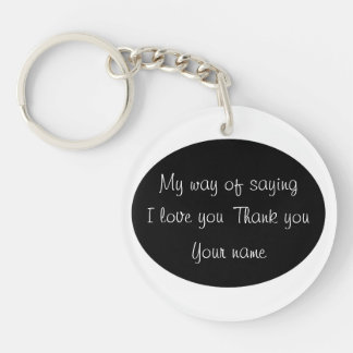 Thank You - Double-Sided Round Acrylic Keychain