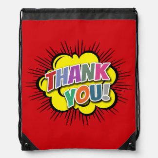 Thank You Drawstring Bag