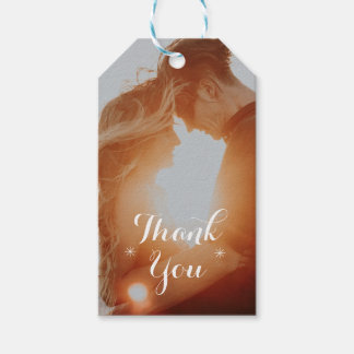 Thank You Editable Photo Wedding Favor Gift Tag