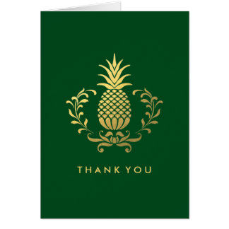 Thank You | Elegant Gold Pineapple Card