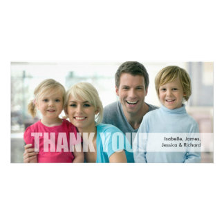 Thank You Family Photo Card