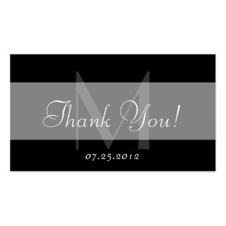 Thank You Favor Card Business Cards