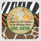 Thank You Favour Tag Jungle Safari Birthday Party