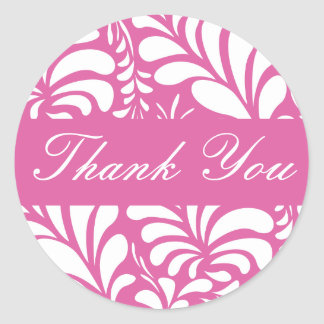Thank You Fern Flora Envelope Sticker Seal