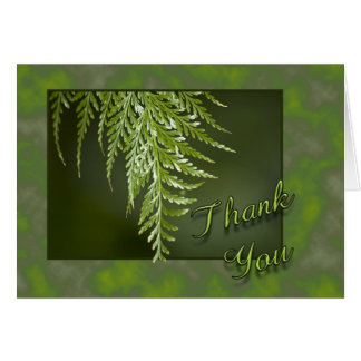 Thank You Fern Greeting Card