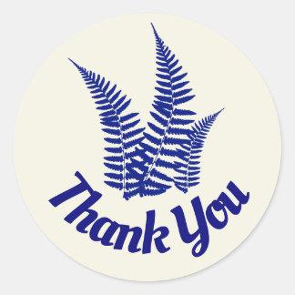 Thank You Fern Round Sticker