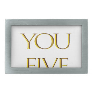 Thank You Five! Belt Buckle