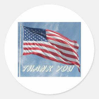 Thank You Flag Sticker