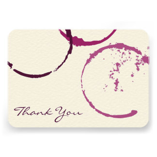 Thank You Flat Note Cards | Wine Stain Rings