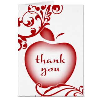 thank you floral apple card