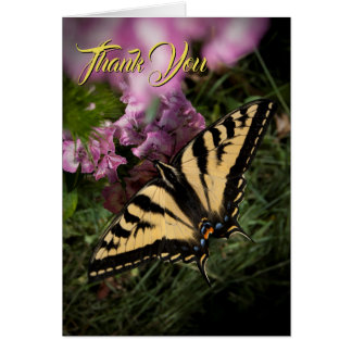 Thank You Floral Garden Butterfly Photo Note Card