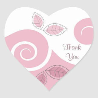 Thank You Floral Gift Sticker