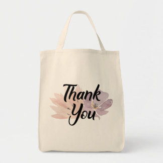 Thank You Floral Gift Tote Bag