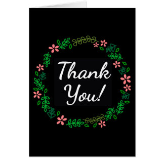 Thank You Floral Wreath in Color Card