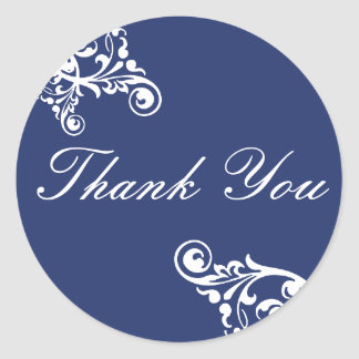 Thank You Flourish Envelope Sticker Seal