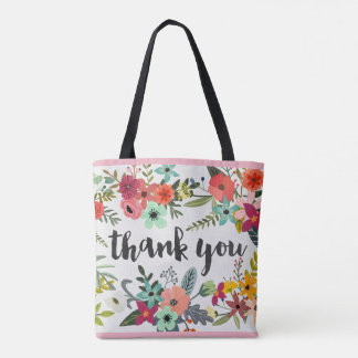 Thank you Flower Bouquet All-Over-Print Tote Bag