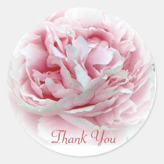 Thank You Flower Envelope Seals Round Sticker