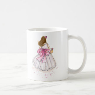 Thank You Flower Girl Brunette Coffee Mug