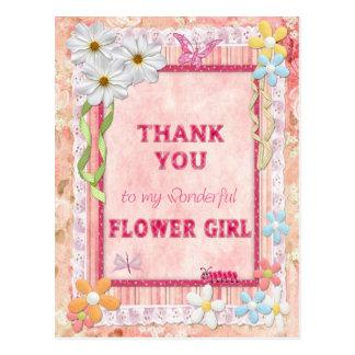 Thank you Flower Girl, flowers craft card