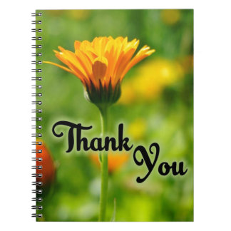 Thank You Flower Spiral Note Books