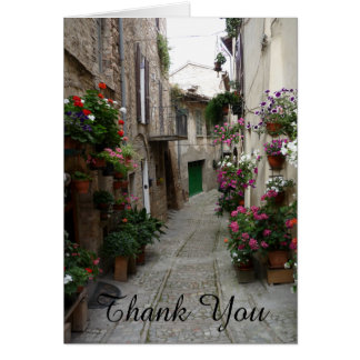 Thank You Flowers Italian Sidestreet Card