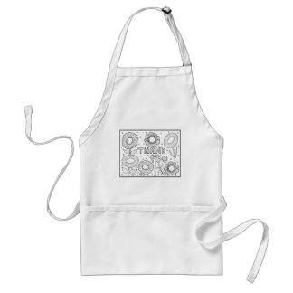Thank You Flowers Standard Apron