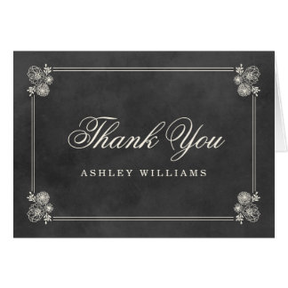 Thank You Folded Cards | Vintage Chalkboard