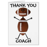 Thank You Football Coach Greeting Card
