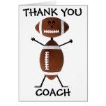 Thank You Football Coach Greeting Card