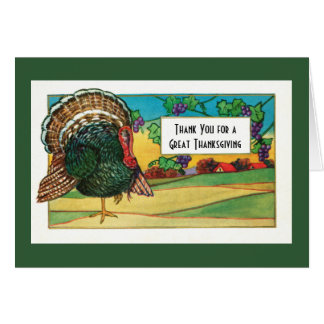 Thank You for a Great Thanksgiving Day Greeting Card