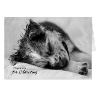Thank You for Adopting Sleeping Puppy Card