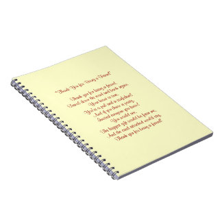 Thank You for Being a Friend - Notebook