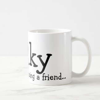 Thank you for being a friend..., Wilky Classic White Coffee Mug