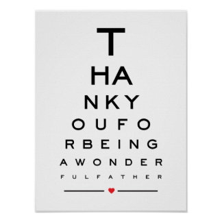 Thank you for being a wonderful father eye chart