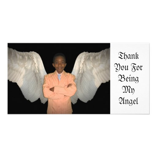 Thank You For Being My Angel Picture Card
