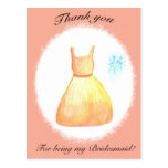 Thank you For Being my Bridesmaid Postcards