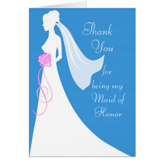 Thank you for being my Maid of Honour Greeting Card