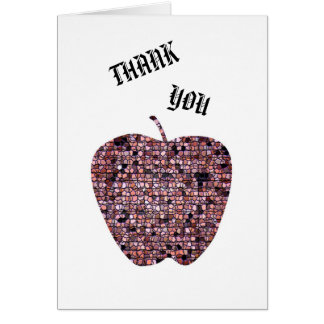 Thank You for being my Teacher Stained Glass Apple Card