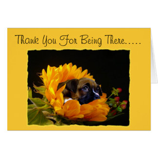 Thank You For Being There Boxer puppy greeting car Card