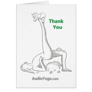 Thank You (for Bending Over Backward) Greeting Card