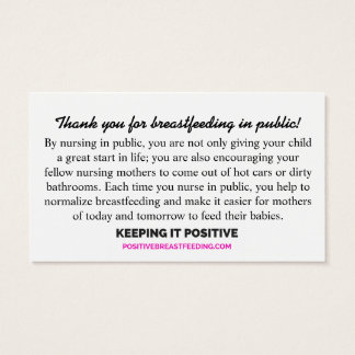 Thank You for Breastfeeding in Public Cards